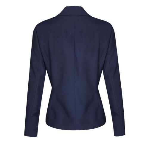 The Wardrobe Ladies Full Sleeve Collar Jacket With One Button – Navy Blue – Lj-5092