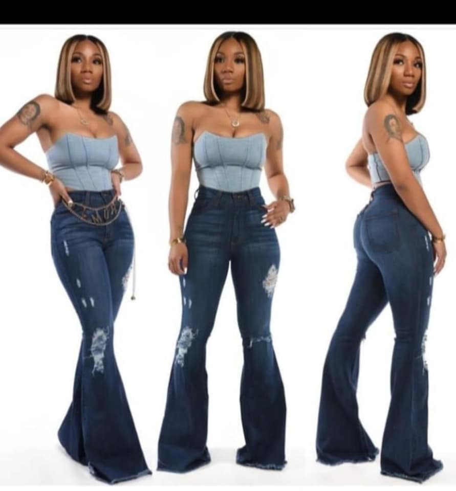Jeans skirts and trousers