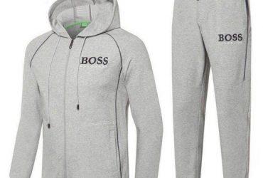 Hugo Boss Crested Logo Design Ash Tracksuits