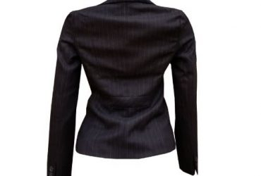 Ladies Stripe Jacket With Full Lining- Black