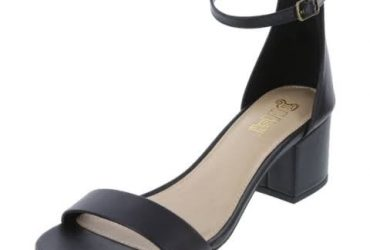 Ladies Block Heel Shoe – Black