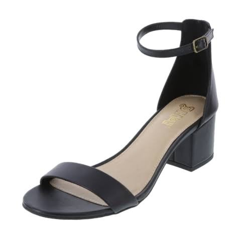 Ladies Block Heel Shoe – Black