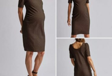 Dorothy Perkins Geometric Maternity Dress – Brown And Black