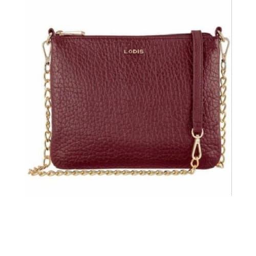 Leather Lodis Emily Leather Handbag- Wine