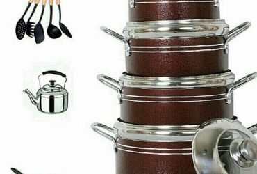 Non Stick Cooking Pots, Frying Pan, Spoons Sets And Stainless Whistling Kettle