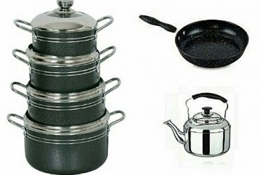 Non Stick Pots Set, Non Stick Frying Pan & Stainless Steel Whistling Kettle