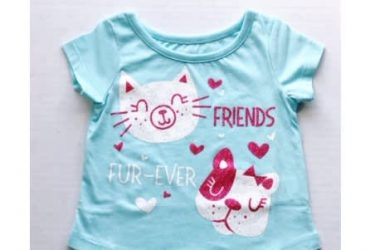 Falls Creek Baby Girl Short Sleeve T Shirt Top – Friend Fur Ever