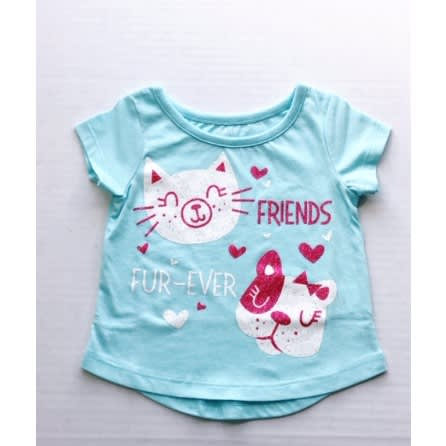 Falls Creek Baby Girl Short Sleeve T Shirt Top – Friend Fur Ever