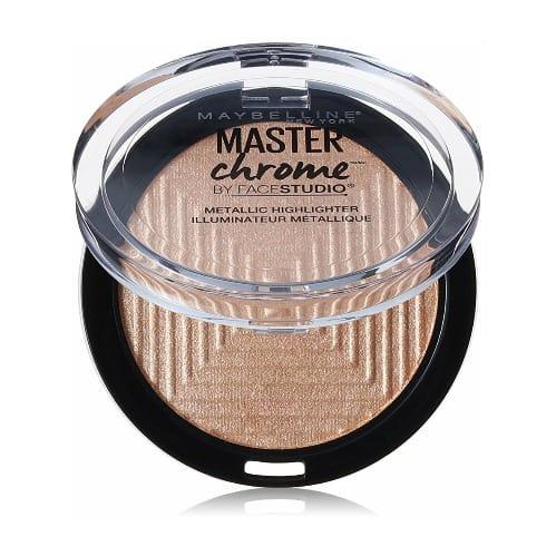 Maybelline Face Studio Master Chrome Metallic Highlighter – Molten Gold – 0.24 oz
