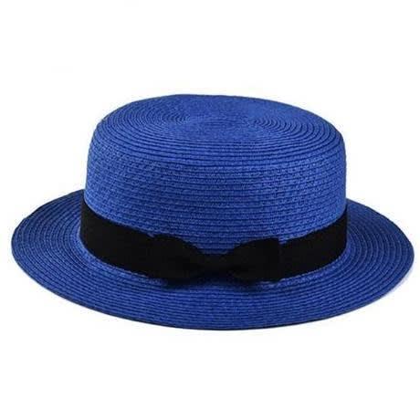 Fashion Forms Fancy Straw Hat – Blue
