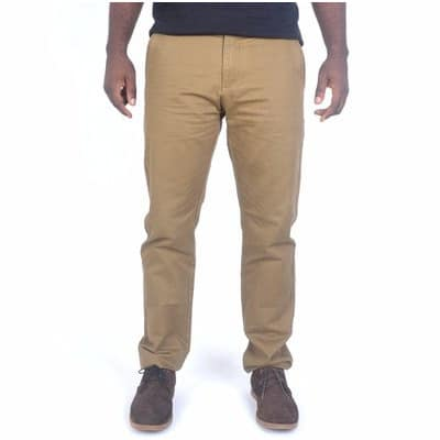 Men's Straight Fit Chinos – Brown