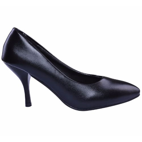 Rising Star Ladies Leather Mid Heel Court Shoes