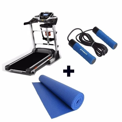 3hp Treadmill With Yoga Mat & Skipping Rope
