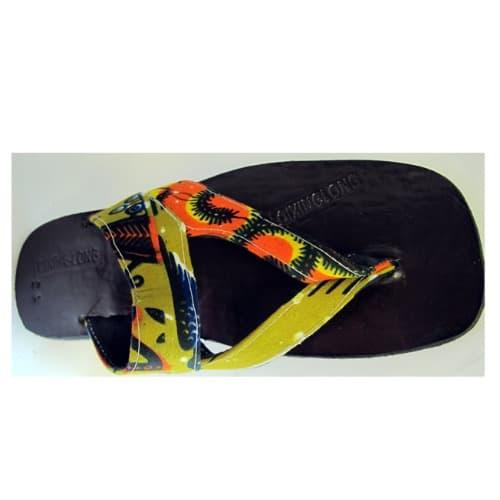 Men's Ankara Slippers – Multicolour