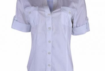 Millenium Ladies Front Pocket Button Blouse