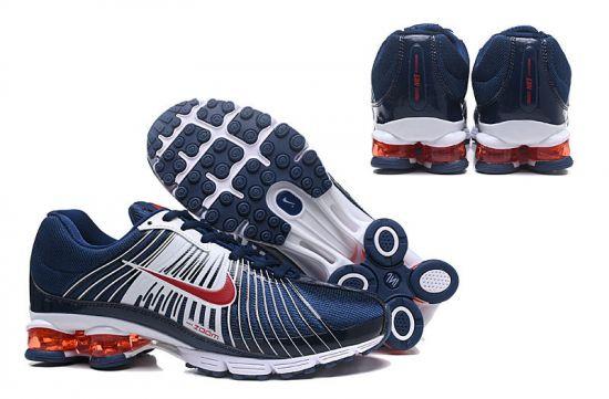 2018 White Navy Blue Red Shox Nz Mens Running Shoes
