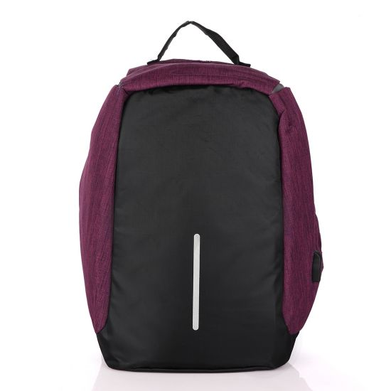Private: Smart portable Travel Backpack with USB port – Purple