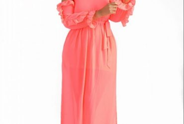 Frill Sleeve Maxi Dress