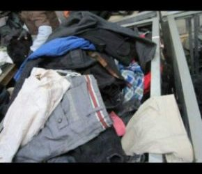 Bale of used clothes UK designers first grade