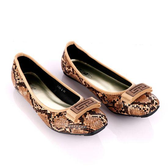 Fashionable Classic Brown Women's Flat Shoe