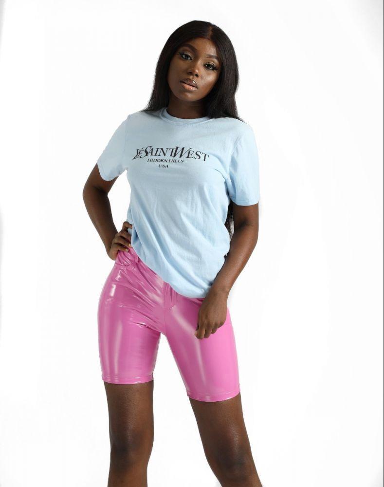 Pink PVC Short