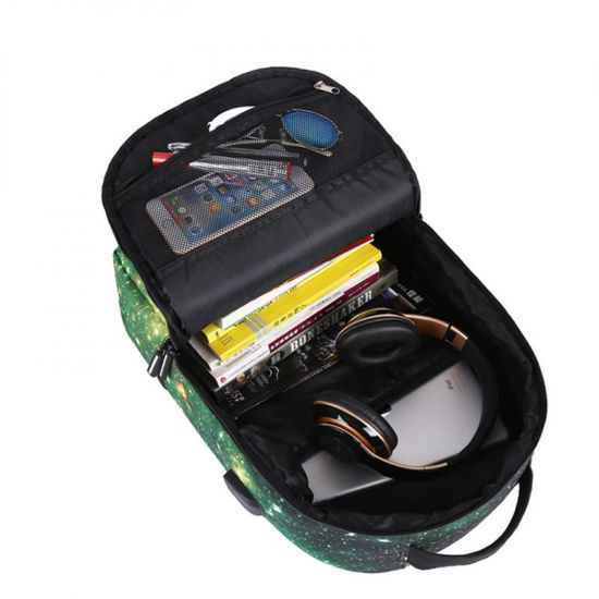 Running Tiger Multicolored With Usb charging Port and Auxillary Backpack Bags
