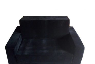 Vitafoam SOFA BED WITH ARM BLACK COLOUR