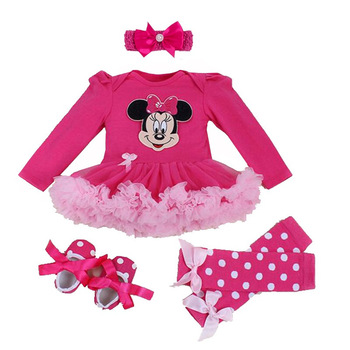 Baby Girl Cute Tutu Romper with Head-Band, Matching Leg Warmers and Shoes