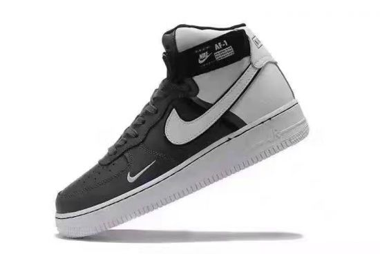 NAF 1 Mid Black and White Hightops Sneakers