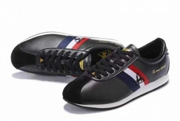 Le Coq Sportif Quartz Premium Men'Black Blue and Red Sneakers