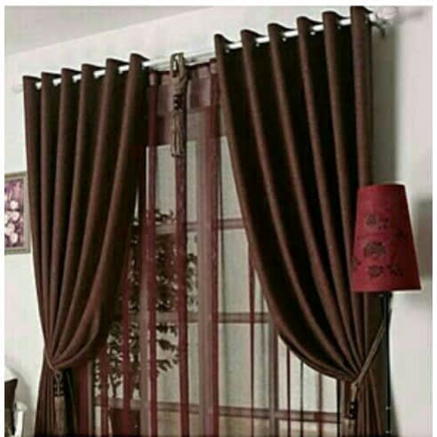 Plain Curtains – 7.5Ft By 7.5Ft – Brown