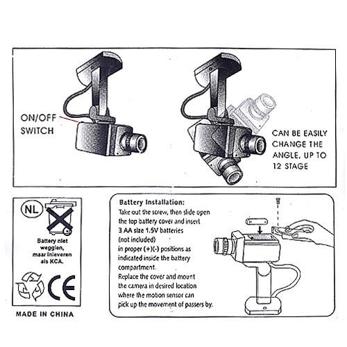 Dummy Security Camera Motion Detection System