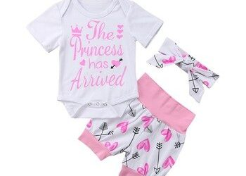 Baby Girls Long Sleeves Romper and Pants