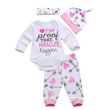Baby Girls Long Sleeves Romper and Pants