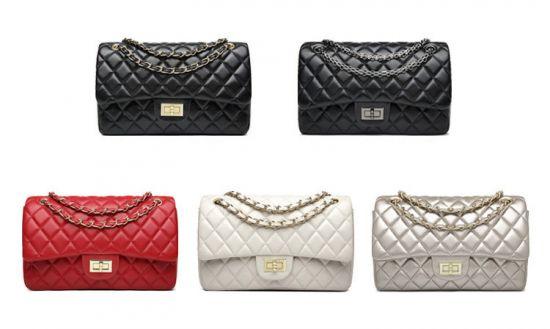 European ClassiC Design Women Tote Style Handbag-Gold