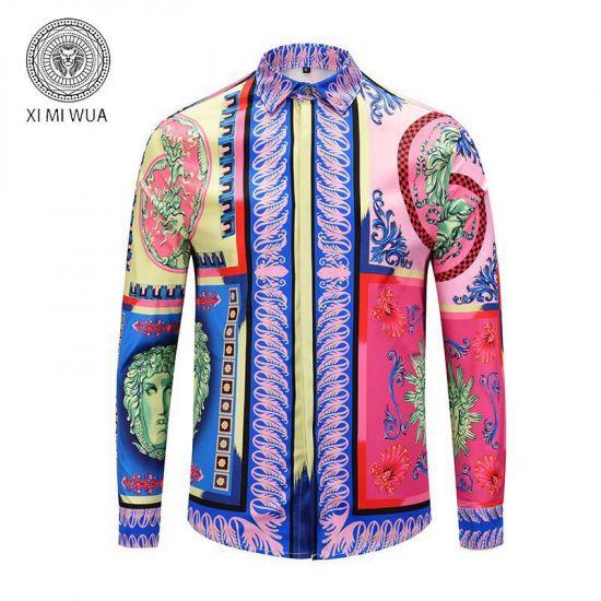 VE Vintage Medusa Pop Foulard Silk Shirt Multicolor