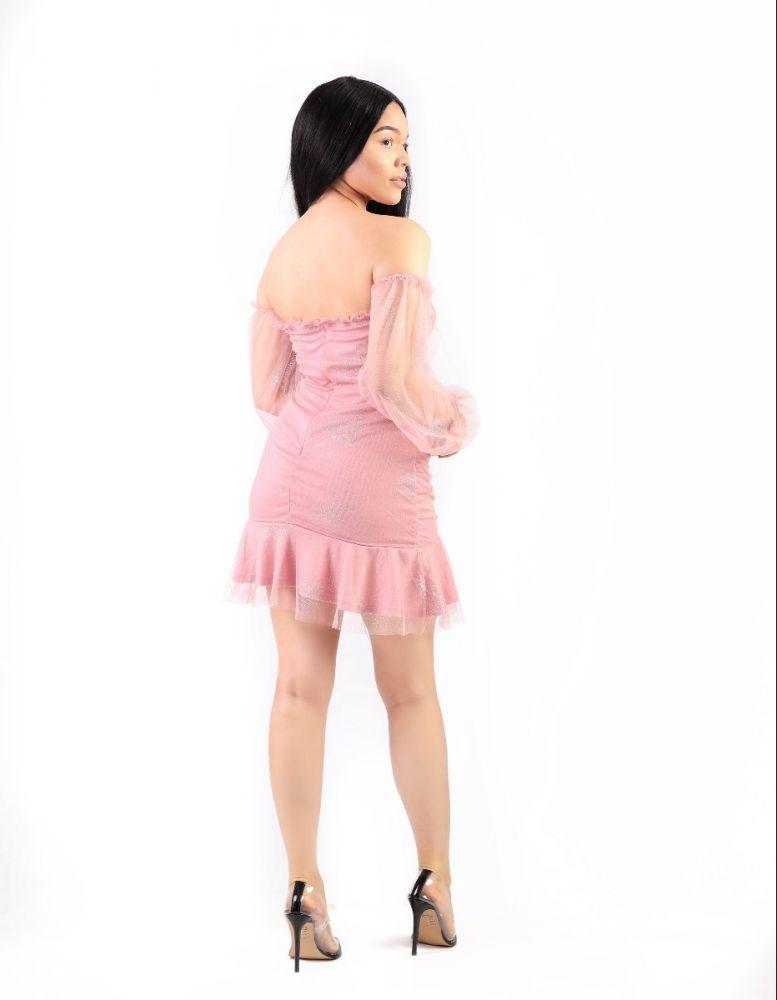 Shimmer Tuelle Dress