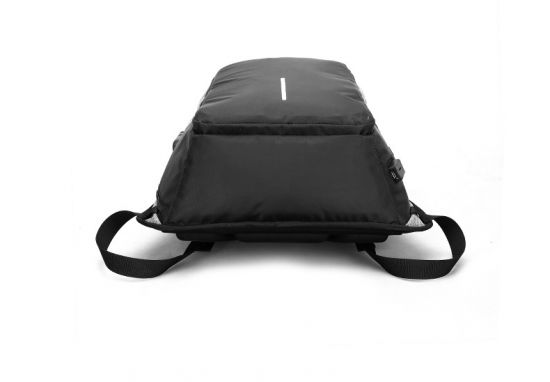 Anti-Theft College Backpack And Security Lock Black Bag