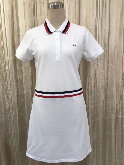 Lacoste Design Dress fitted Ladies White Gown