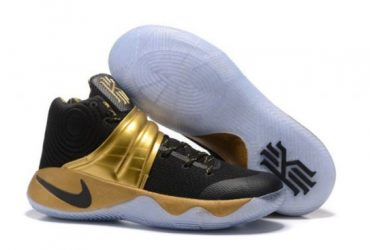 Kyrie 2 Black Gold Men's Basketball Sneakers