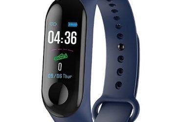 M3 Smart Bracelet Fitness Tracker Heart Rate Monitor Waterproof Bracelet Band Blue