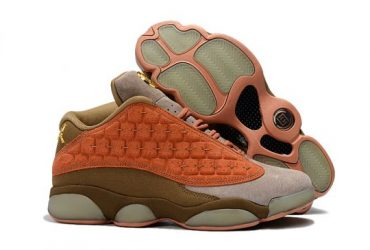 Jordan 13 X Clot Low Gs Light Gray/Dirt Orange
