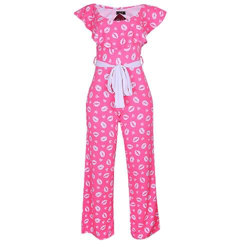 Canill Cape Off Shoulder Wide Legs Jumpsuit – Pink