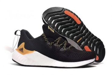 Adidas Alpha Bounce Boost Running Sneakers – Black Gold