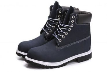 Timberland 6 Inch Nubuck Leather Navy Blue White Breathable Vent Tech Boots