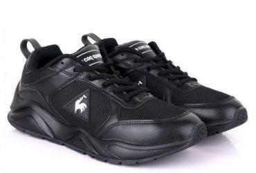 Le Coq Sportif Black Mesh Sneakers