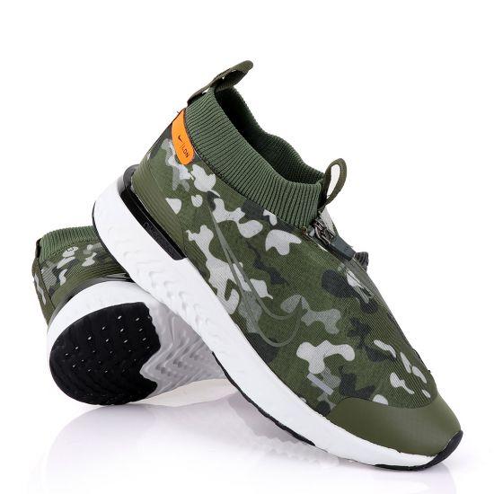 NK React Run Utility Green Running Sneakers