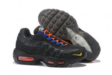 NAM 95 Black Gold Blue Orange Men's Casual Running Sneakers