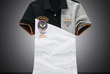 Aeronautica Helicopter Task Force Short Sleeve Shirt Polo-Gry