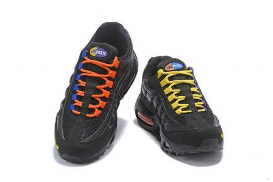 NAM 95 Black Gold Blue Orange Men's Casual Running Sneakers